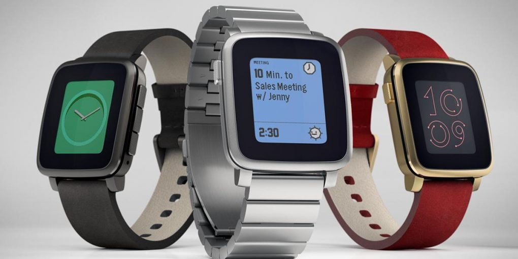 la montre pebble time Steel